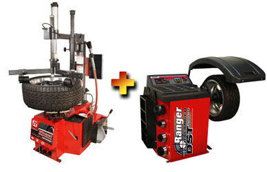 "Ranger R30XLT NEXTGEN™ RimGuard™ 33"" Double Bead Roller Power Assist Tire Changer with DST-2420 Wheel Balancer Combo"