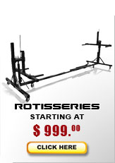 Auto rotisserie models starting at $995...