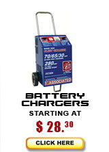 Battery charger models starting at $27.09...