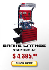 Brake lathe models starting at $4,395...