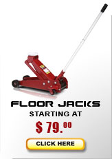 Floor jack models starting at $195...