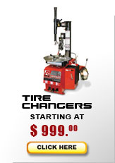 tire changer models start at $1,150