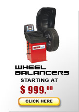 wheel balancer models start at $1,050