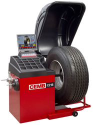 CEMB C218 Motorized Video Truck Wheel Balancer with Pneumatic Lift