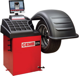 CEMB C73se Video Wheel Balancer with Flat Screen Monitor Pneumatic Locking (CEMB Patent)
