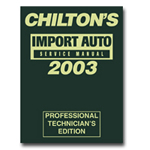 Chiltons Book Company 1999 - 2003 Import Service Manual CHN9357