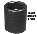 "K Tool International 1"" Drive 7/8"" Standard 6 Point Impact Socket KTI35128"