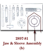 KD Tools Jaw Assembly and Sleeve for KDT2897 KDT2897-81