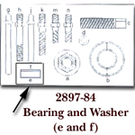 KD Tools Bearing & Washer for KDT2897 KDT2897-84