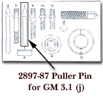 KD Tools Puller Pin for GM 3.1 for KDT2897 Puller Pin KDT2897-87