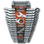 KD Tools 16 Piece Metric XL Combination Ratcheting GearWrench Set KDT85099