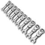 KD Tools 10 Piece Metric Stubby Flex GearWrench Set KDT9550