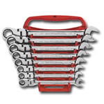 KD Tools 8 Piece SAE Flex Head Combination Gear Wrench Set KDT9701