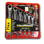 KD Tools 7 Piece Metric Flex Head Combination Gear Wrench Set KDT9900