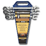 KD Tools 4 Piece Metric Flex Head GearWrench Completer Set KDT9903