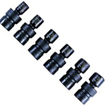 K Tool International 3/8in. Drive 6 Piece Metric Swivel Impact Socket Set KTI37500