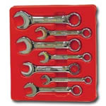 K Tool International 7 Piece High Polish SAE Short Combination Wrench Set KTI41200