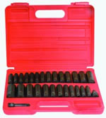 Sunex SOCKET SET IMPACT 3/8IN. DR.28PC DBLE DEEP MET/SAE SUN3360DD