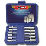 Vim Products 11 Piece Deep Torx Socket Set - E4 Thru E18 VIMVDE418-03