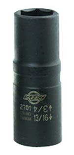 "Sunex Tools 1/2"" Drive Standard Flip Impact Socket 3/4"" x 13/16"" With 3"" Extension SUN2703"