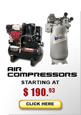 air compressors from $640
