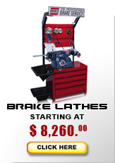 Brake lathes starting at $4,395...