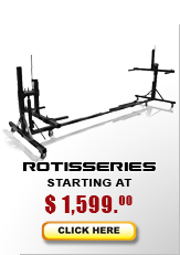 Auto rotisseries starting at $995...