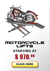 motorcycle lift models start at $575
