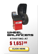wheel balancers starting at $1,050