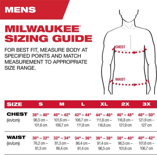 Milwaukee sizing guide