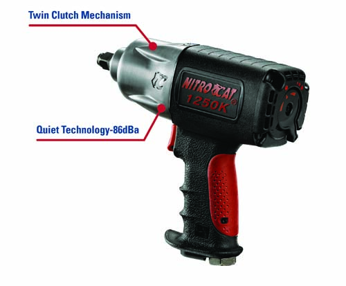 AirCat 1250-K 1/2in NitroCat Kevlar Impact Wrench features