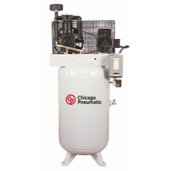 Chicago Pneumatic 7.5 HP 2 Stage Single Phase Reciprocating Compressor - CPTRCP-7581V