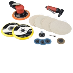 Dynabrade Products Bodyman's Random Orbital Sander and Angle Die Grinder Kit DYB21080