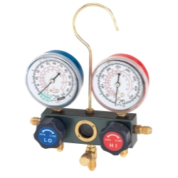 FJC Inc Dual Manifold Gauge Set with Manual Service Couplers FJC6697M