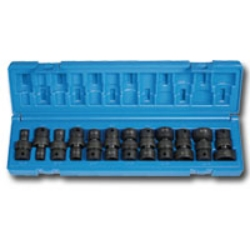 "Grey Pneumatic 3/8"" Drive 12 Piece 6 Point Fractional Universal Impact Socket Set GRE1212U"
