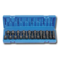 "Grey Pneumatic 1/2"" Drive 18 Piece Combo Hex Fractional and Metric Impact Socket Set GRE1598HC"
