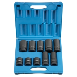 "Grey Pneutmatic 1"" Drive 10 Piece 4 and 6 Point Truck Wheel Service Impact Socket Set GRE9153"