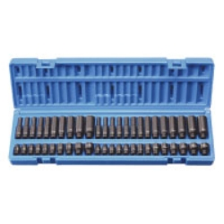 "Grey Pneumatic 48 Piece 1/4"" Drive Standard, Deep Fractional and Metric Master Impact Socket Set #GRE9748"
