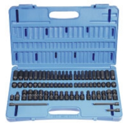 "Grey Pneumatic 1/4"" Drive 71 Piece Surface Master Impact Socket Set GRE9771"