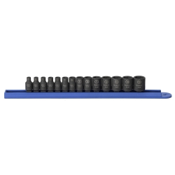 "KD Tools 1/4"" Drive 14 Piece 6 Point Metric Impact Socket Set KDT84907"