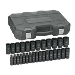 "GearWrench® 84935N 29 Pc. 1/2"" Drive 6 Point Metric Deep Impact Socket Set - KDT-84935N"