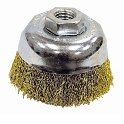 "K Tool International 3"" Coarse Crimped End Wire Cup Brush KTI79225"