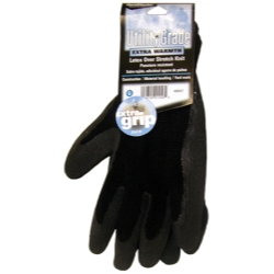 MAGID Medium Black Winter Knit, Latex Coated Palm Gloves MGL408WTM