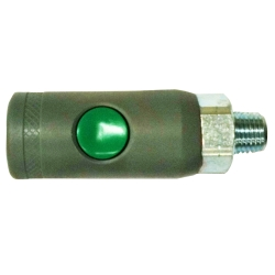 "Milton Industries 1/4"" NPT Male, ""T"" Style Safety Coupler MILS99788"