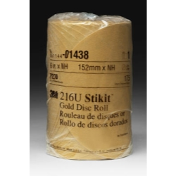 "3M™ 6"" 175/Roll Stikit™ Gold Disc Roll MMM1438"