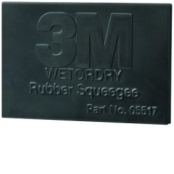 "3M 2"" x 3"" Wetordry Rubber Squeegee MMM5518"