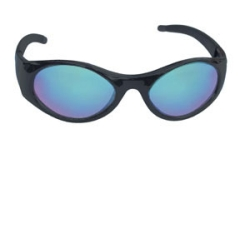 SAS Safety Black Stingers Safety Glasses /w Blue Mirror Lens (Clamshell Packed) SAS5183-50