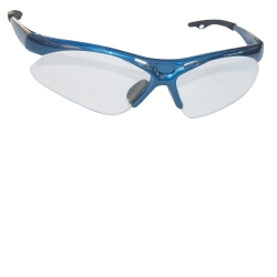 SAS Safety Diamondback Safety Glasses with Blue Frame and Clear Lens in a Polybag SAS540-0300