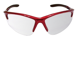 SAS Safety DB2 Safety Glasses with Clear Lens and Red Frame in Polybag SAS540-0400