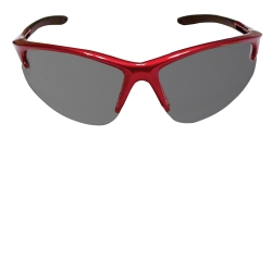SAS Safety DB2 Safety Glasses with Shaded Lens and Red Frames in Poly Bag SAS540-0401